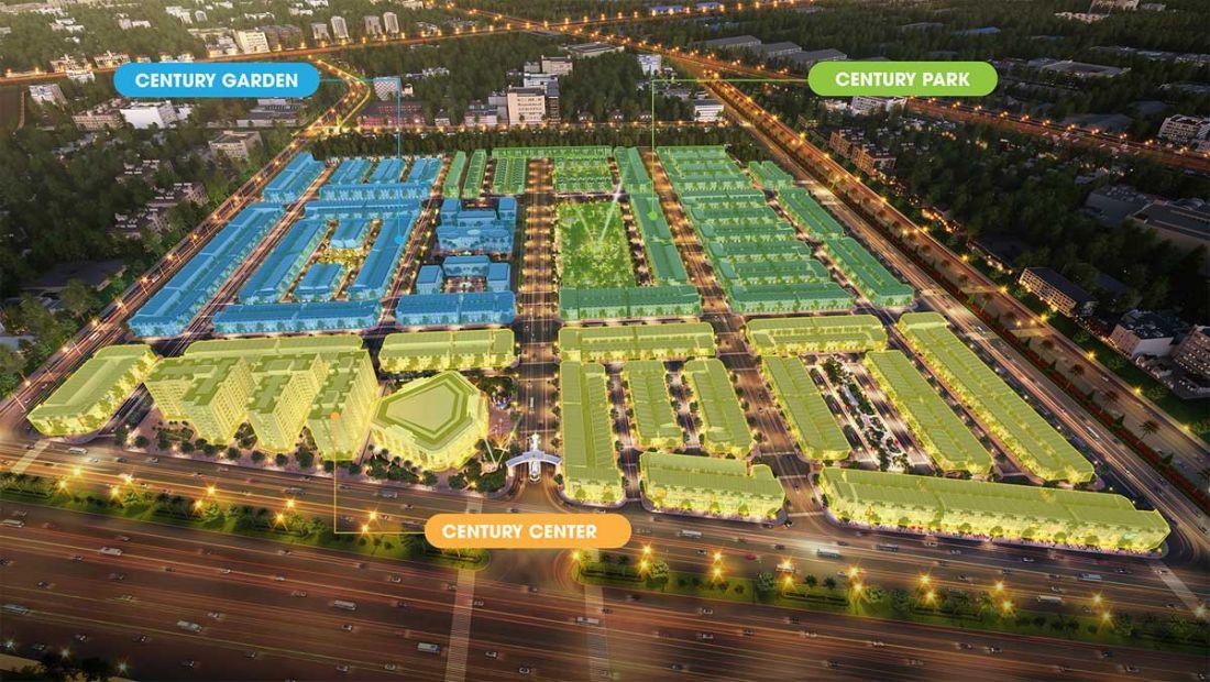 3 Phân khu bên trong dự án Century City Long Thành