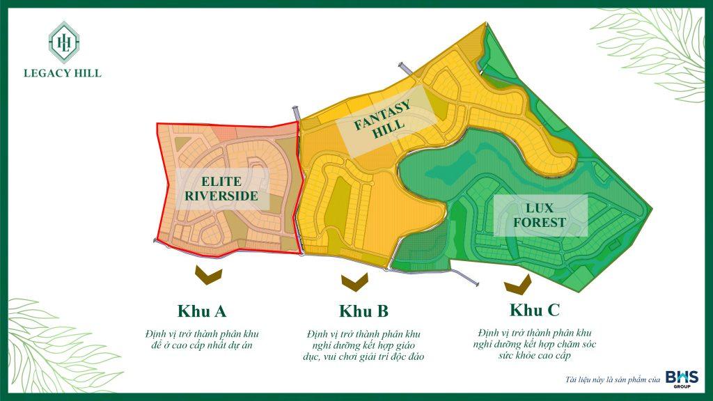 3 Phân khu dự án Legacy Hill