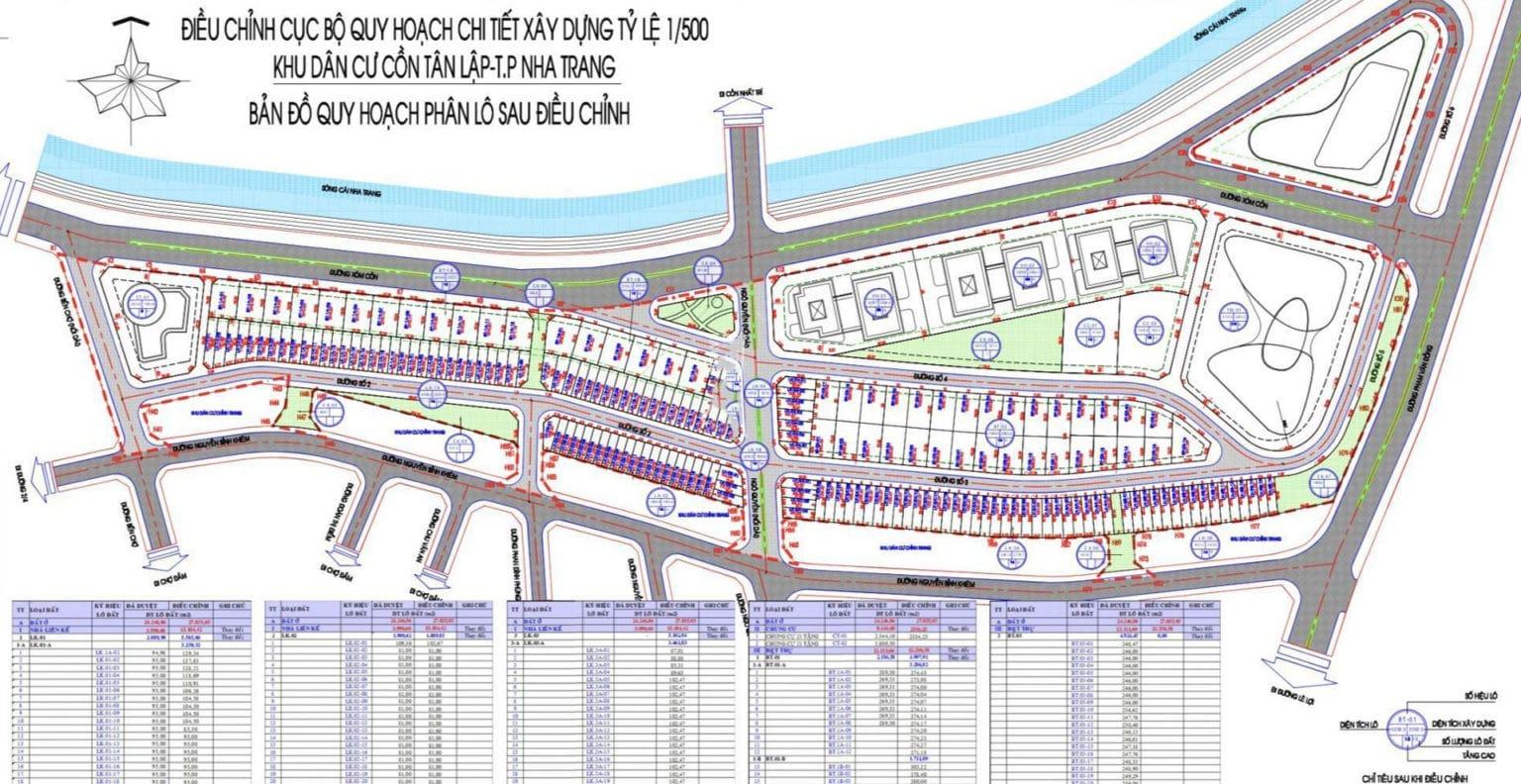 Bản đồ quy hoạch phân lô dự án The Aston Nha Trang