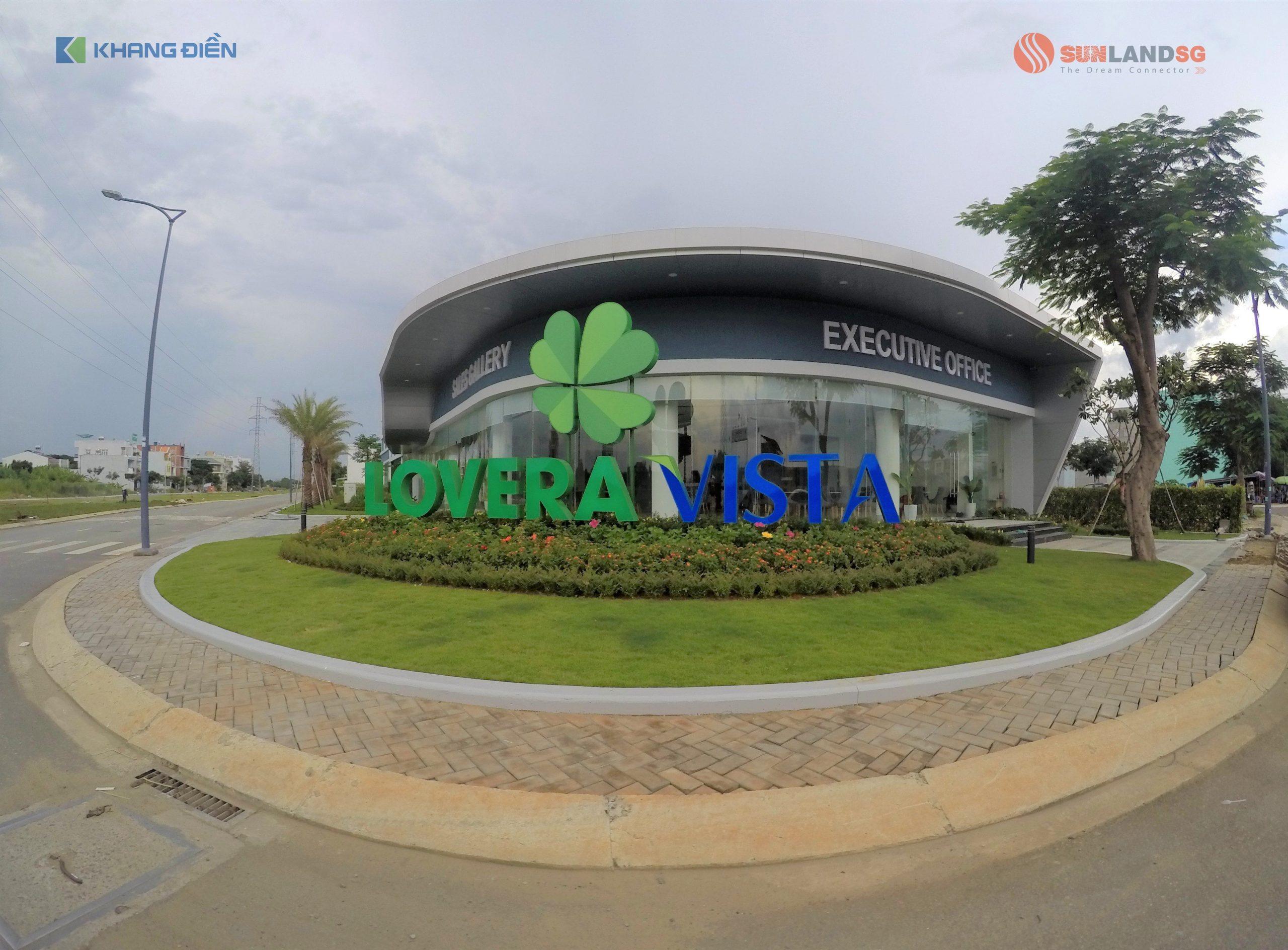 Cổng vào khu dự án Lovera Vista Khang Điền