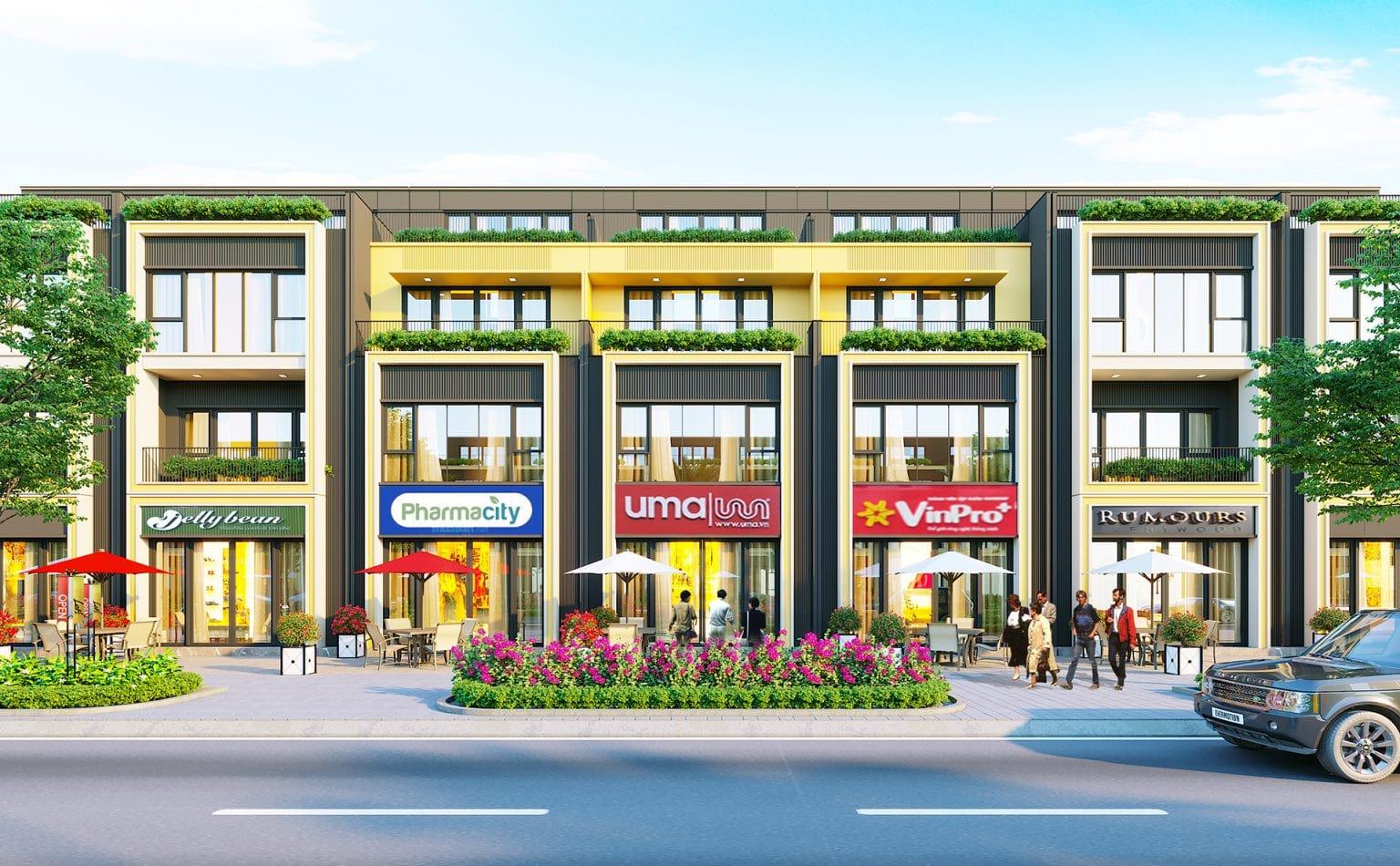 Khu Shophouse dự án Century City Long Thành