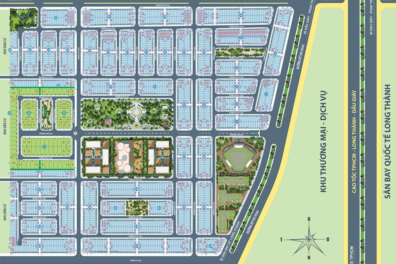 Mặt bằng dự án Century City Long Thành