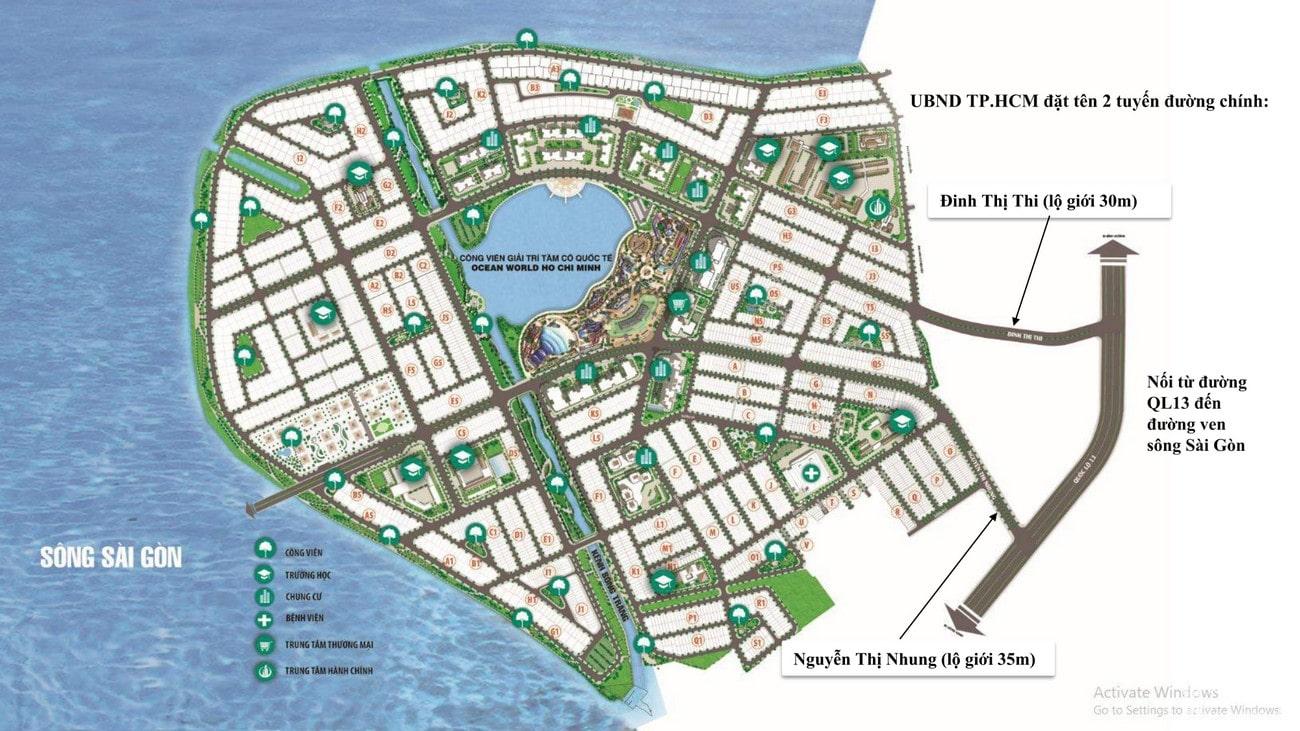 Mặt bằng dự án Vạn Phúc City