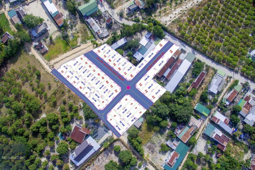 Mặt bằng phân lô dự án Cam Lâm Riverside