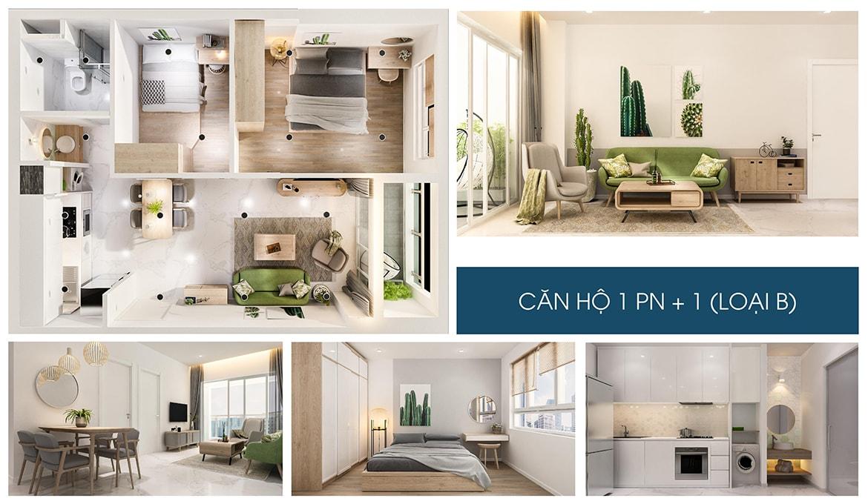 Nhà mẫu căn hộ 1 PN dự án Charm City