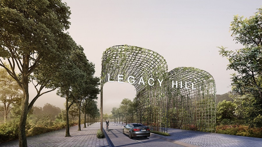 Phối cảnh cổng vào khu dự án Legacy Hill