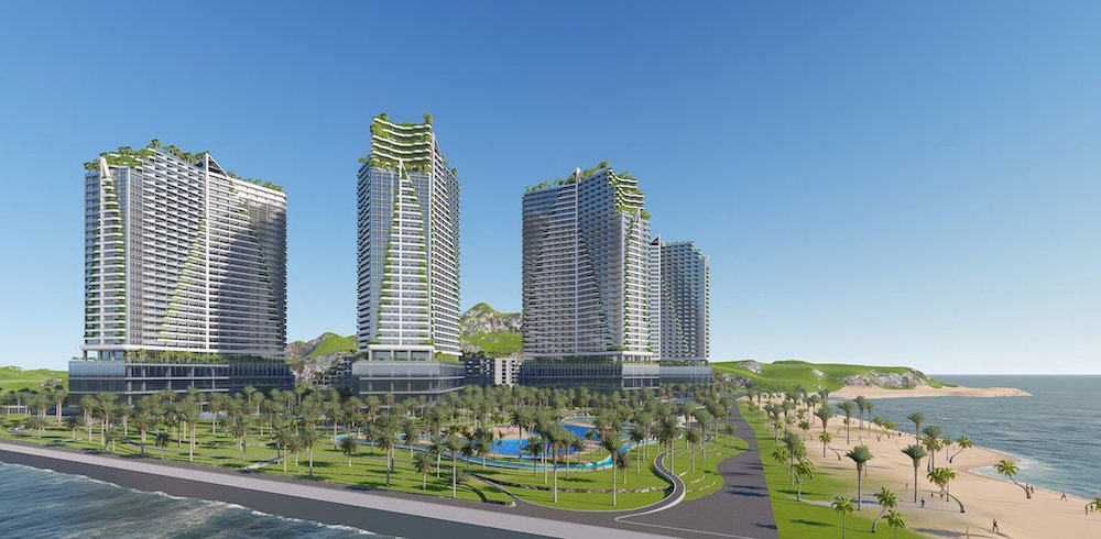 Phối cảnh tổng thể dự án Apec Mandala Dubai Towers Ninh Thuận