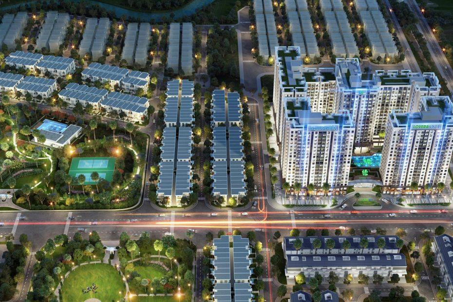 Phối cảnh tổng thể dự án căn hộ Lovera Vista Khang Điền
