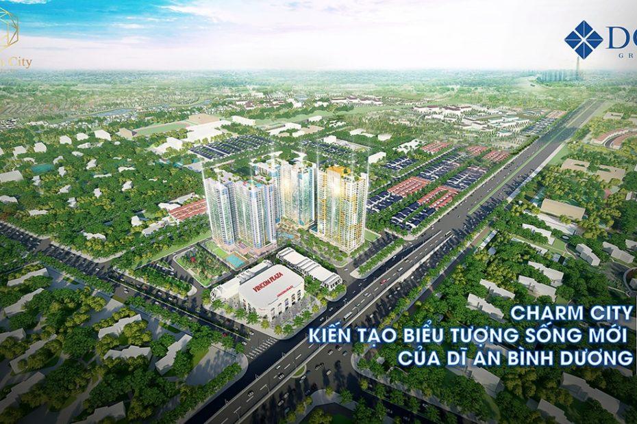 Phối cảnh tổng thể dự án Charm City