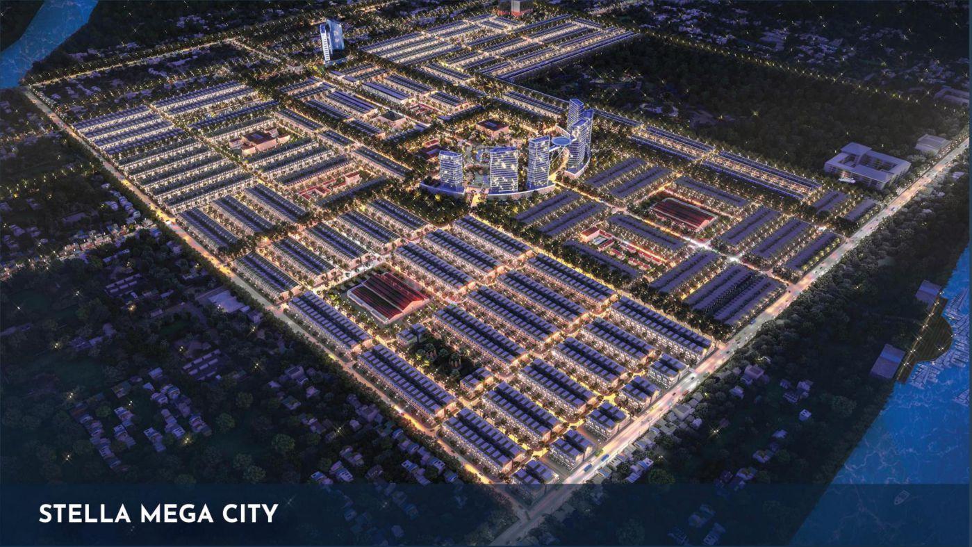 Phối cảnh tổng thể dự án Stella Mega City