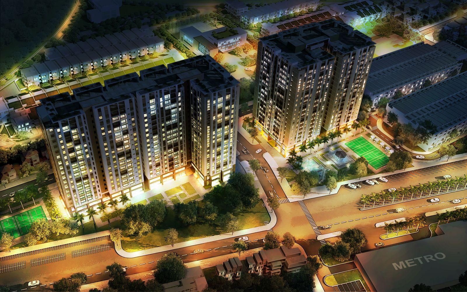 Phối cảnh tổng thể dự án Stown Tham Lương