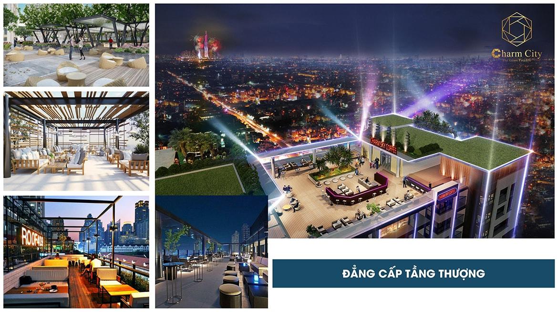 Tiện ích trên sân thượng dự án Charm City