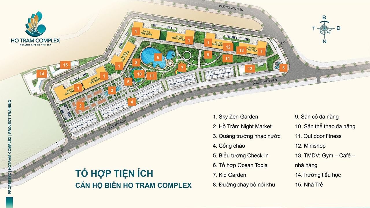 Tổ hợp tiện ích căn hộ biển Hồ Tràm Complex