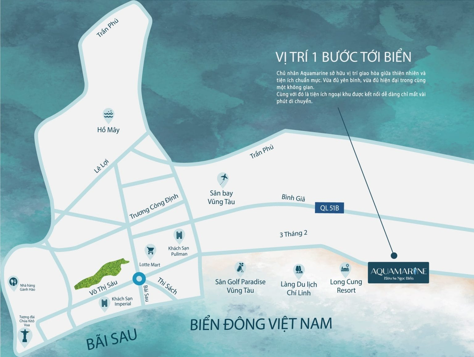 Vị trí dự án căn hộ Aquamarine Vũng Tàu