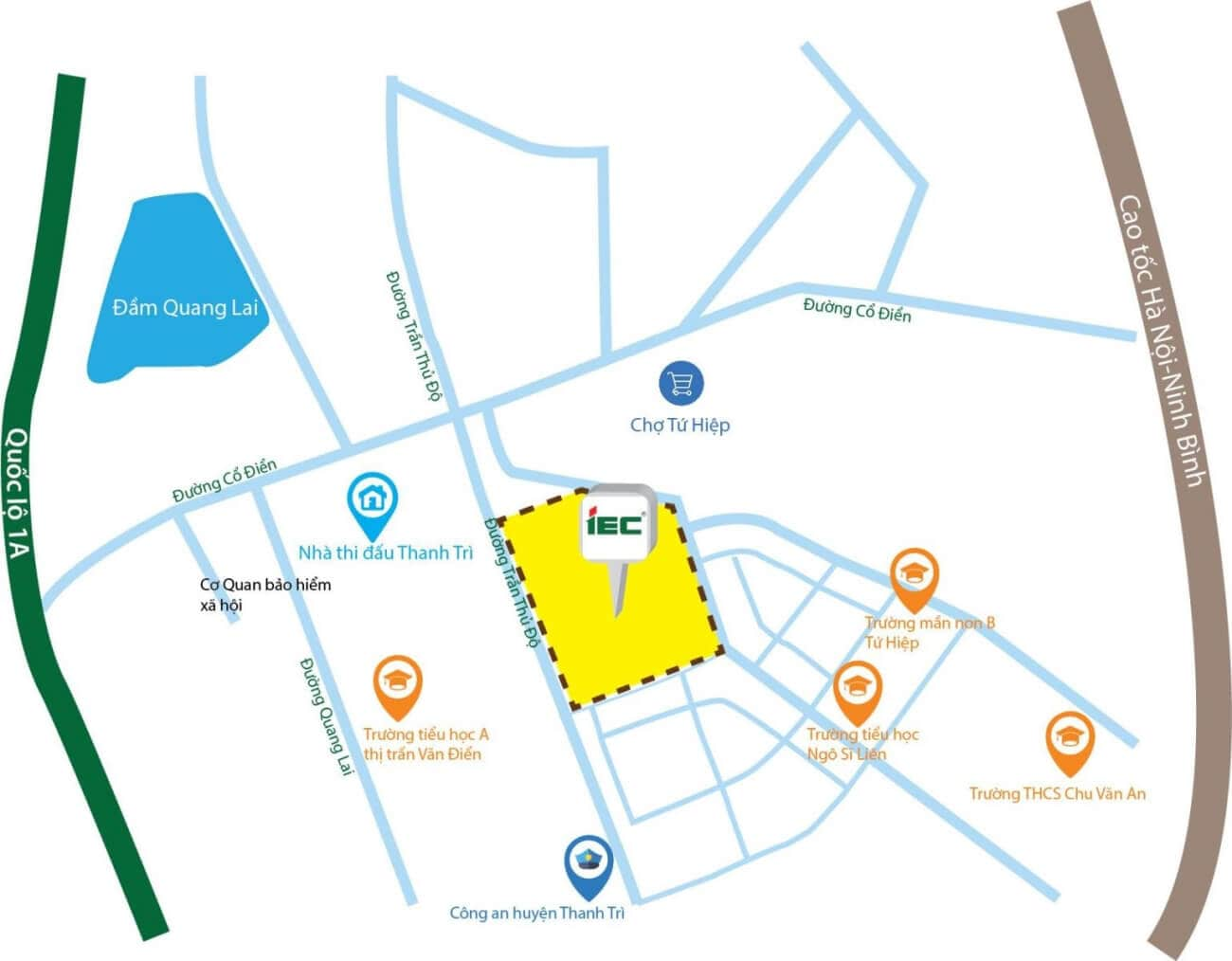 Vị trí dự án IEC Residence