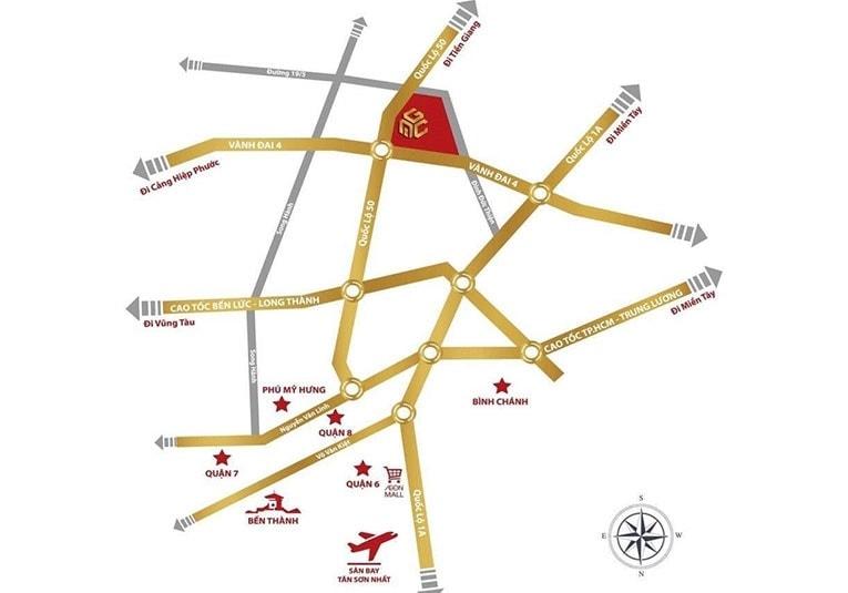 Vị trí dự án Sài Gòn Centre Gate