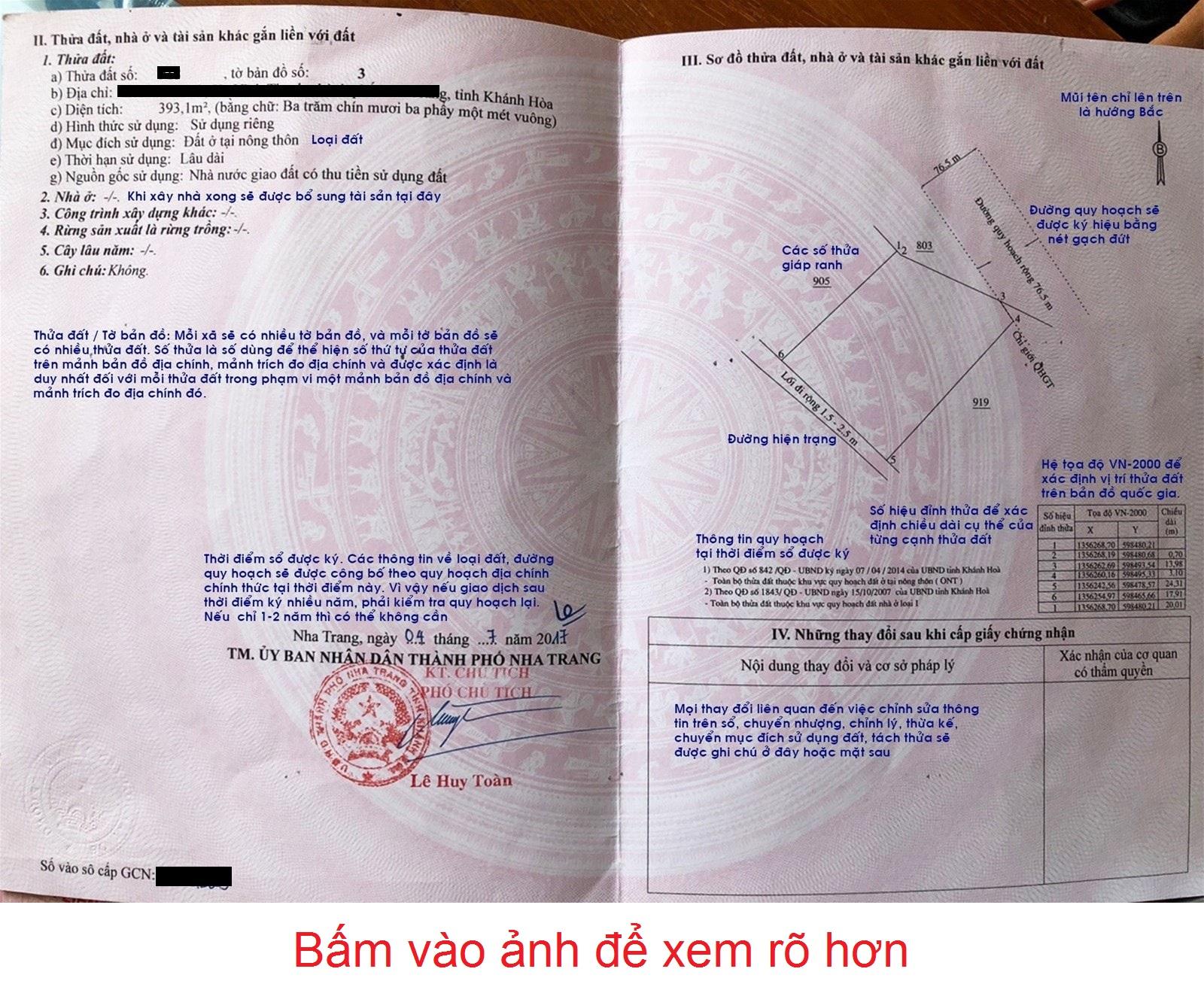 Mẫu giấy chứng nhận quyền sử dụng đất