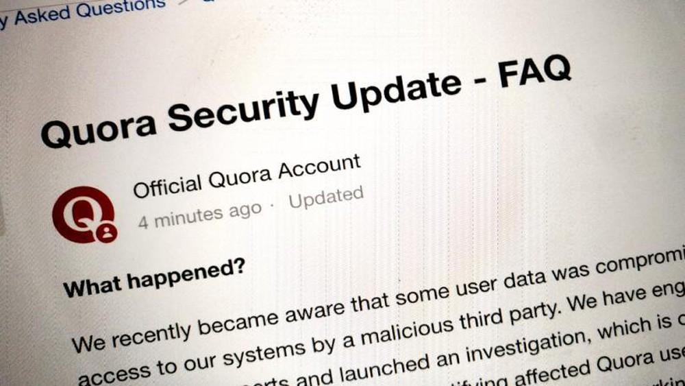 Quora cập nhật bảo mật