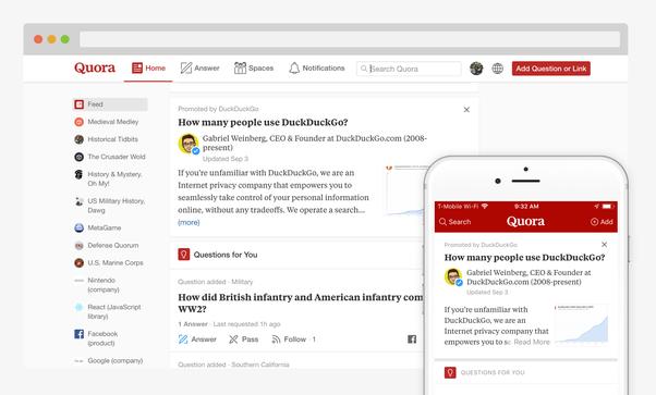 Quora có cả trên 2 nền tảng máy tính và điện thoại