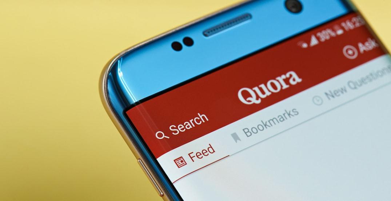 Quora trên giao diện Smartphone