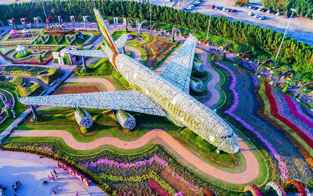 Vườn hoa ở Dubai
