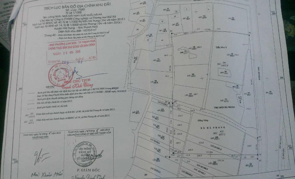 Yếu tố cơ bản của bản đồ địa chính
