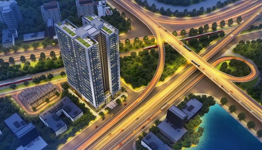 Phối cảnh tổng thể dự án Hoàng Huy Grand Tower