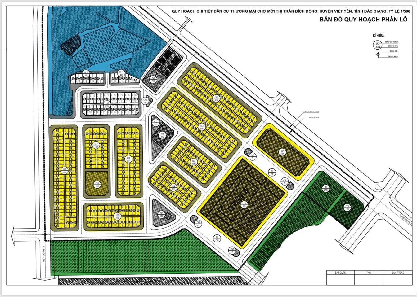 bản đồ quy hoạch phân lô dự án TNR Stars Bích Động