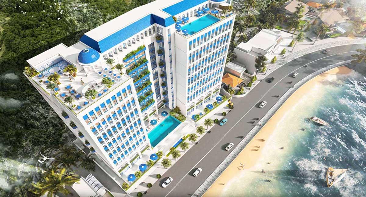 Căn hộ Léman Cap Residence liền kề bãi biển