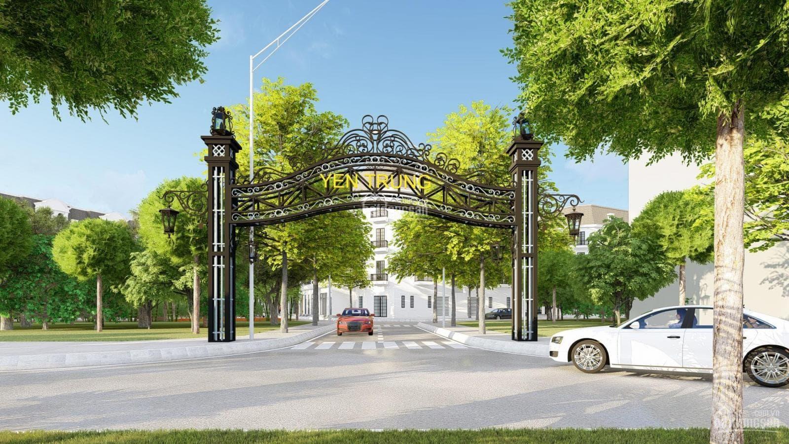Cổng vào dự án Yên Trung Residence