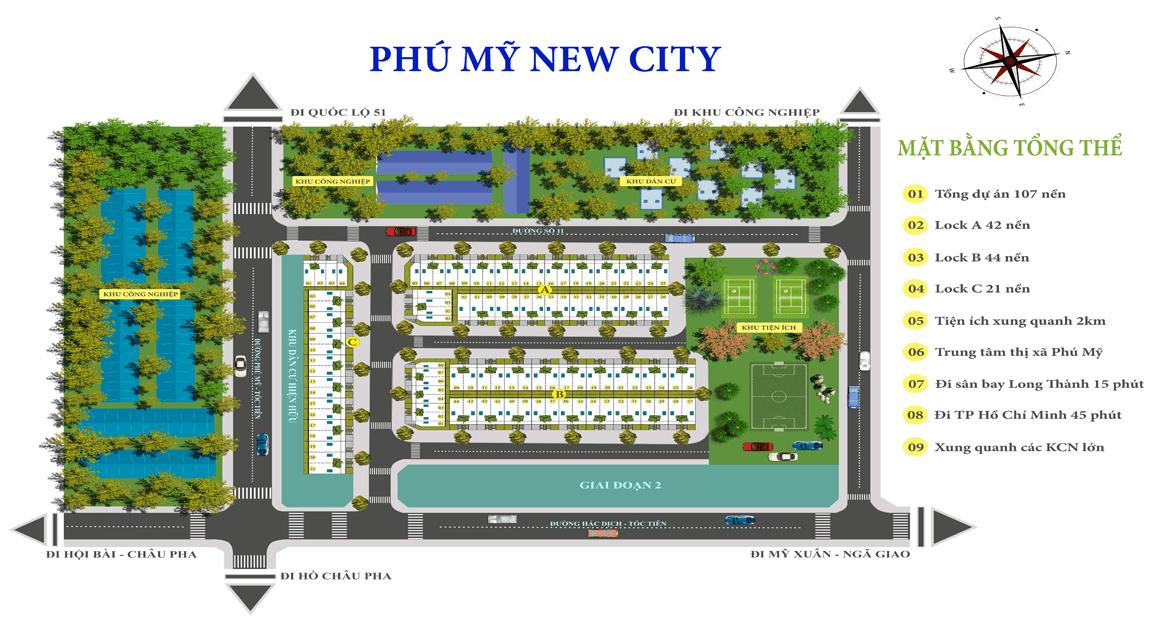 Mặt bằng tổng thể dự án Phú Mỹ New City