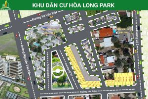 Mặt bằng tổng thể khu dân cư Hòa Long Park