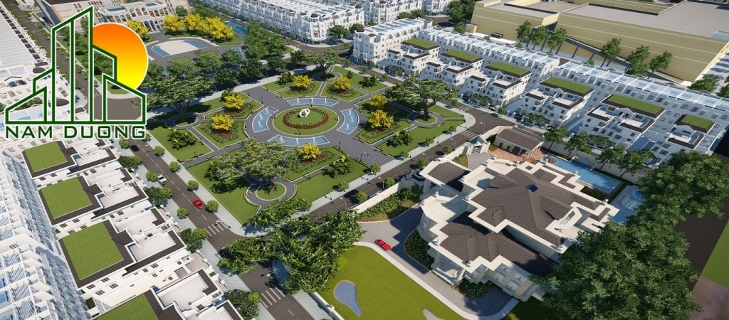 Phối cảnh tổng thử dự án Happy Center Land