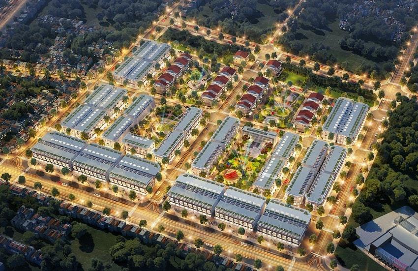 Phối cảnh tổng thể dự án Phú Mỹ New City