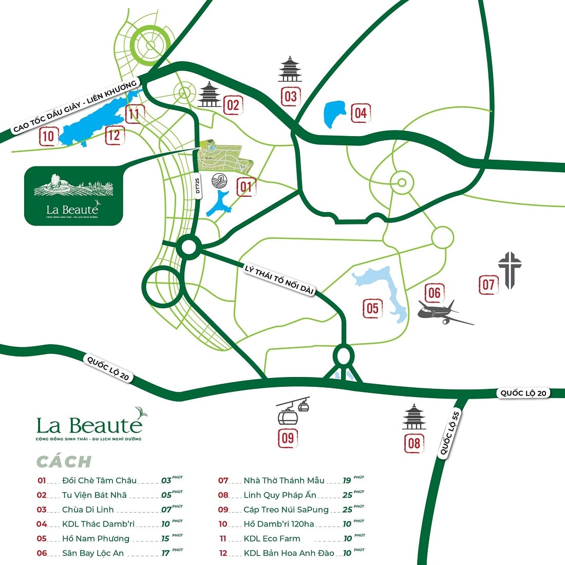 Tiện ích ngoại khu dự án La BEAUTE'