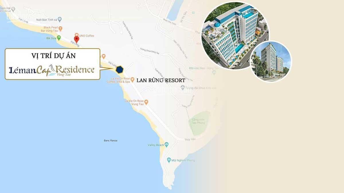 Vị trí dự án Léman Cap Residence