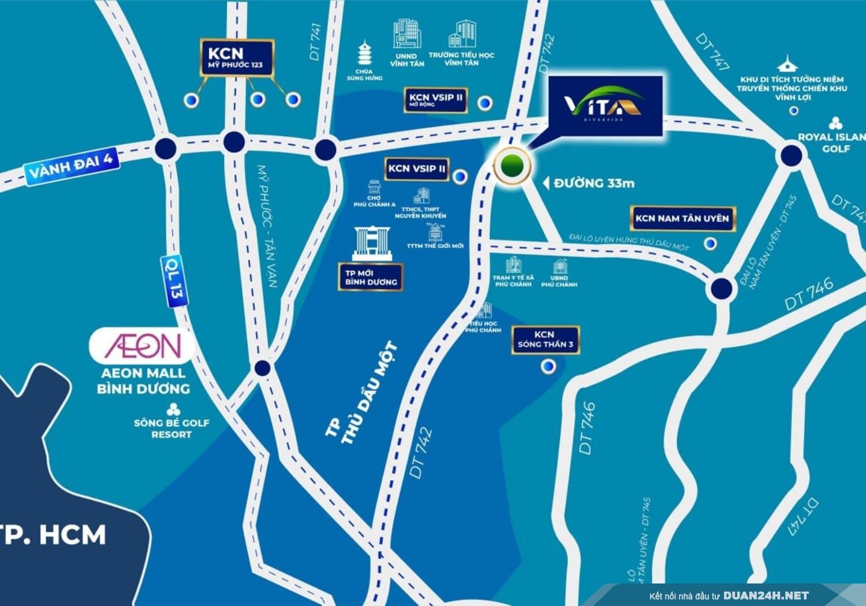 Vị trí dự án Vita Riverside