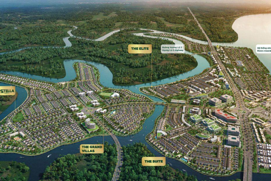 Phối cảnh tổng thể dự án Aqua City