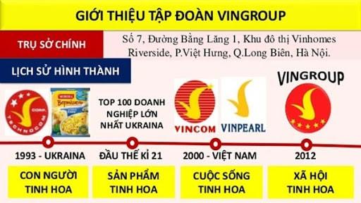 Quá trình thành lập tập đoàn Vingroup