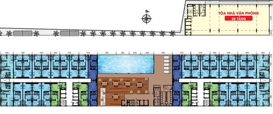 Mặt bằng dự án Roxana Plaza