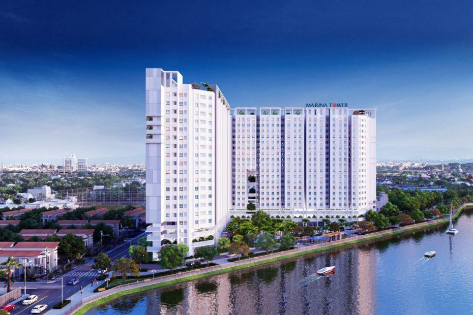 Phối cảnh tổng thể dự án Marina Tower