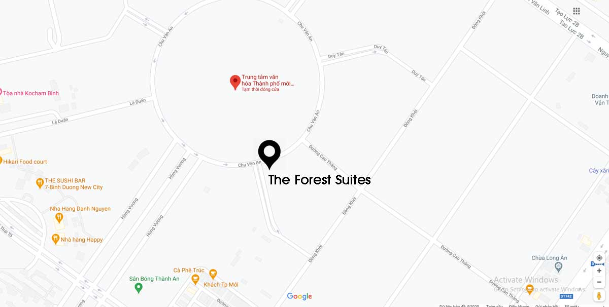Vị trí dự án The Forest Suites